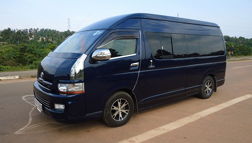 Van with driver hire in Sri Lanka