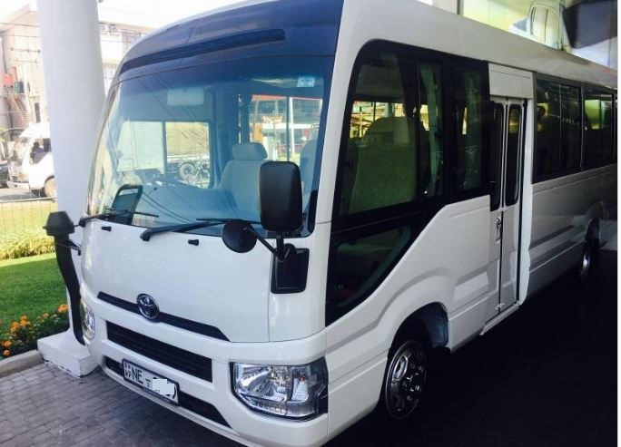 22 seater mini coach at Colombo airport