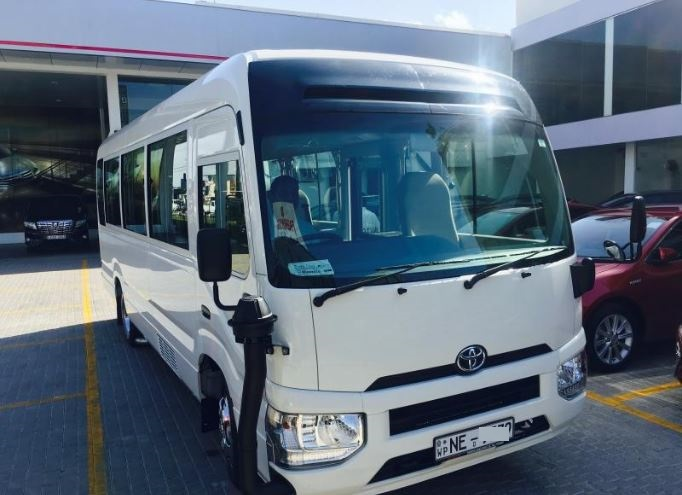 22 seater bus hire, Model Toyota Coaster 2017