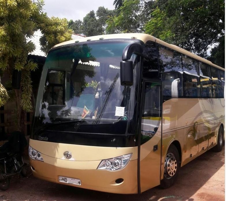 32 seater Zonda bus for hire at Ariport hotel