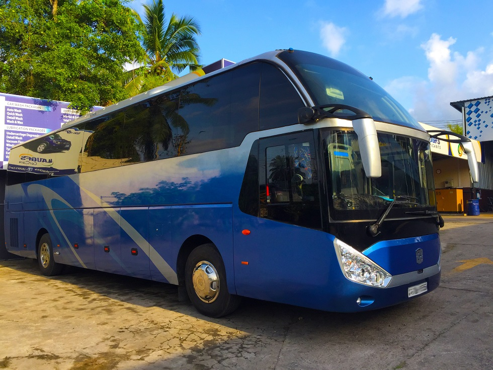 Volvo 50 seater bus for hire in Colombo