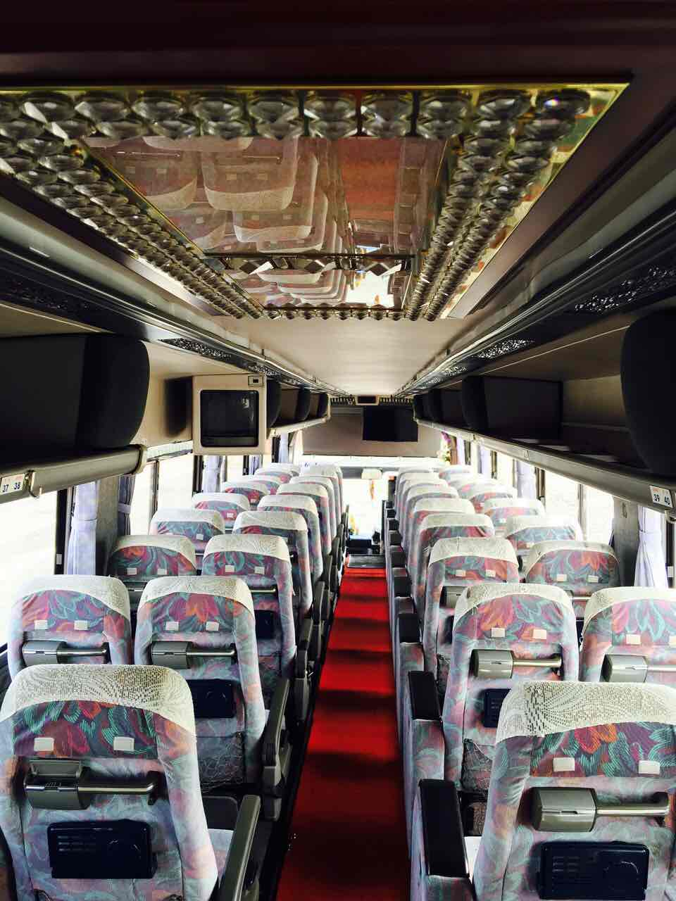45 seater volvo bus inside