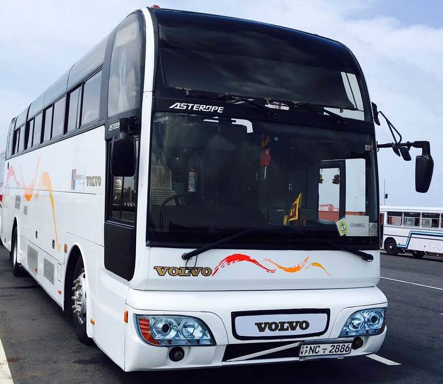 45 seater AC Volvo bus for hire Sri Lanka