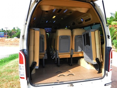hire van with baggage space at back