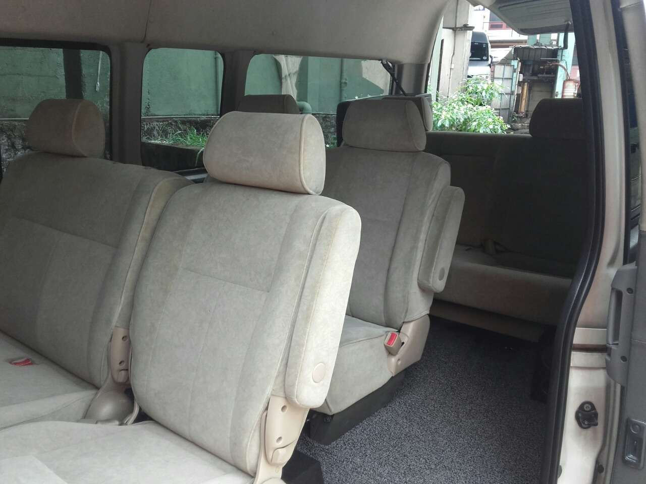 nine adjustable passenger seats and rear space for baggage