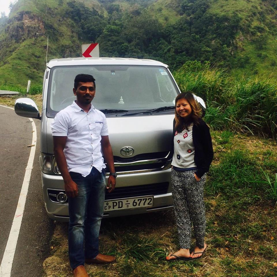srilankan driver Lalith With czech guests