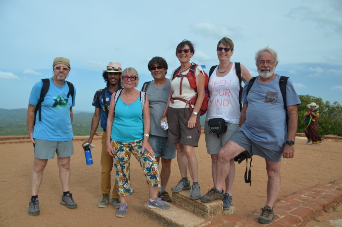 SriLankan Guide Damith with French guests