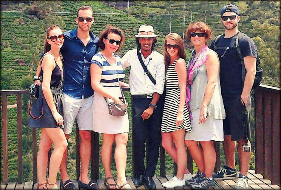 SriLankan_Tour_Guide_Damith with Russian guests
